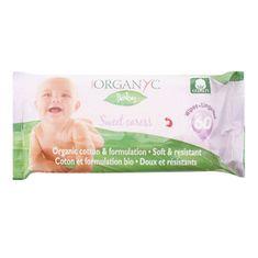 Organyc Detské čistiace obrúsky BIO bavlna 60 ks