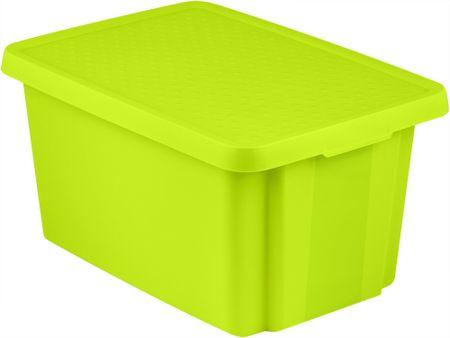 Curver škatla za shranjevanje s pokrovom ESSENTIALS, 45 L, zelena