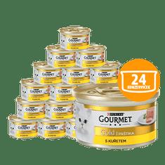 Gourmet mokra karma dla kota Gold pasztet z kurczakiem 24 x 85 g