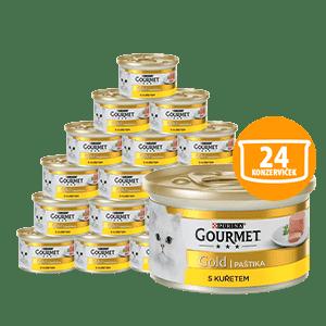 Gourmet Gold pástétom csirkével 24 x 85g