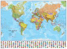 Svět - nástěnná politická mapa 136 x 100 cm