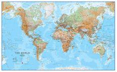Svět - nástěnná zeměpisná mapa 195 x 120 cm