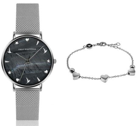 Emily Westwood set dámskych hodiniek a náramku EWS023