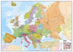 Evropa - nástěnná politická mapa 140 x 100 cm