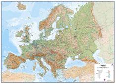 Evropa - nástěnná zeměpisná mapa 140 x 100 cm