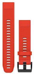 eses Silikonový řemínek dírkovaný červený pro Garmin Fenix 3 / 5X / 5X Sapphire / 5X Plus / 3HR 1530000447