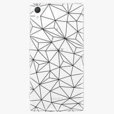 iSaprio Plastový kryt - Abstract Triangles 03 - black - Sony Xperia Z2