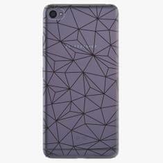 iSaprio Plastový kryt - Abstract Triangles 03 - black - Lenovo S90