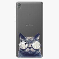iSaprio Plastový kryt - Crazy Cat 01 - Sony Xperia E5