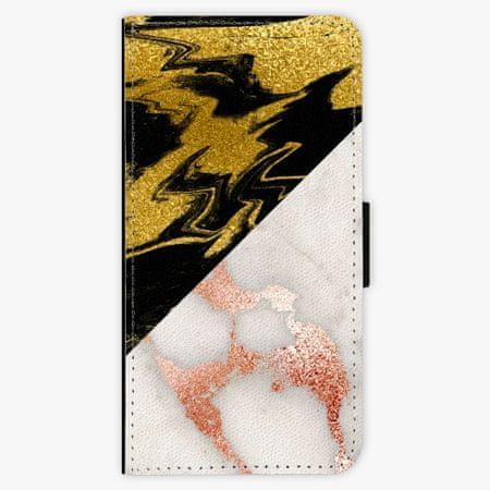 iSaprio Flipové pouzdro - Shining Marble - iPhone XS
