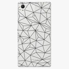 iSaprio Plastový kryt - Abstract Triangles 03 - black - Sony Xperia Z1
