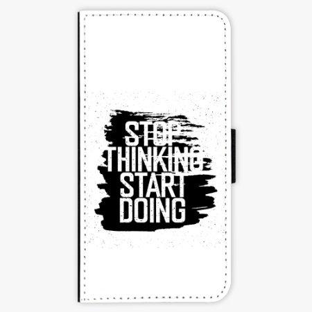 iSaprio Flipové pouzdro - Start Doing - black - Huawei P20
