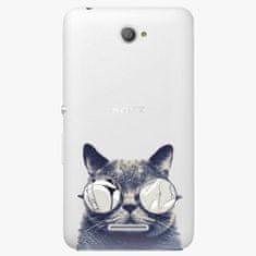 iSaprio Plastový kryt - Crazy Cat 01 - Sony Xperia E4