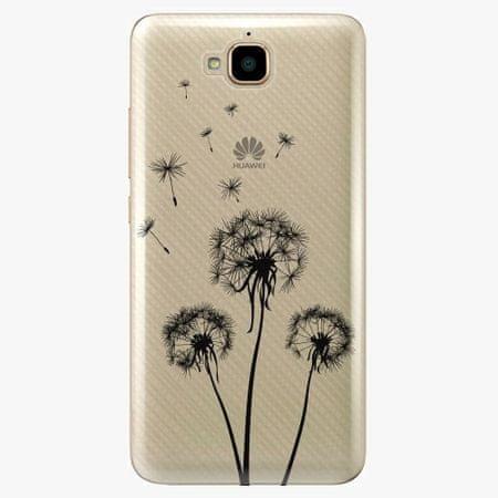 iSaprio Plastový kryt - Three Dandelions - black - Huawei Y6 Pro