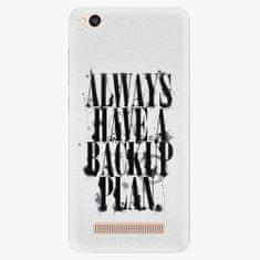 iSaprio Plastový kryt - Backup Plan - Xiaomi Redmi 4A
