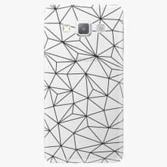 iSaprio Plastový kryt - Abstract Triangles 03 - black - Samsung Galaxy A7