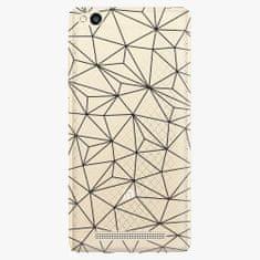 iSaprio Plastový kryt - Abstract Triangles 03 - black - Xiaomi Redmi 3