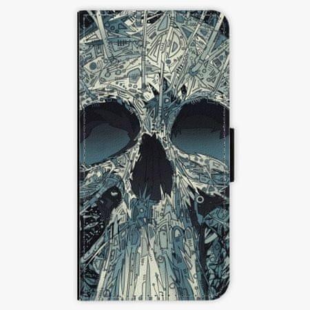 iSaprio Flipové pouzdro - Abstract Skull - iPhone XS