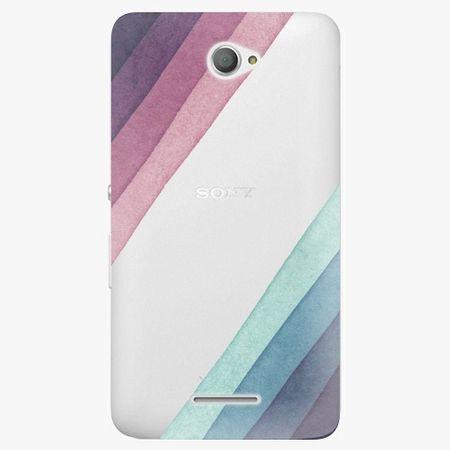 iSaprio Plastový kryt - Glitter Stripes 01 - Sony Xperia E4