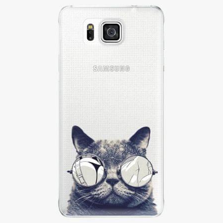 iSaprio Plastový kryt - Crazy Cat 01 - Samsung Galaxy Alpha