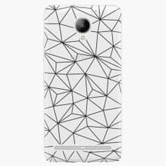 iSaprio Plastový kryt - Abstract Triangles 03 - black - Lenovo C2