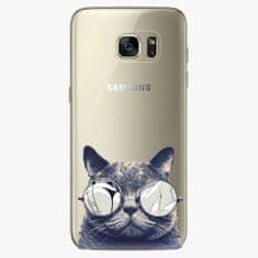 iSaprio Plastový kryt - Crazy Cat 01 - Samsung Galaxy S7 Edge