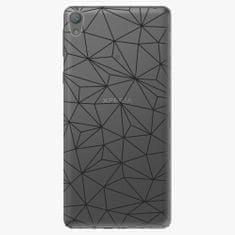 iSaprio Plastový kryt - Abstract Triangles 03 - black - Sony Xperia E5