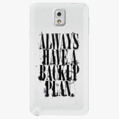 iSaprio Plastový kryt - Backup Plan - Samsung Galaxy Note 3