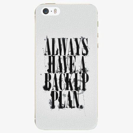 iSaprio Plastový kryt - Backup Plan - iPhone 5/5S/SE