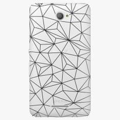 iSaprio Plastový kryt - Abstract Triangles 03 - black - Sony Xperia E4
