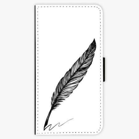 iSaprio Flipové pouzdro - Writing By Feather - black - Huawei P20