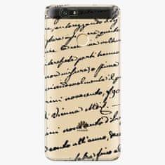 iSaprio Plastový kryt - Handwriting 01 - black - Huawei Nova