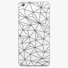 iSaprio Plastový kryt - Abstract Triangles 03 - black - Lenovo S850