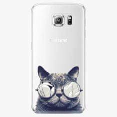 iSaprio Plastový kryt - Crazy Cat 01 - Samsung Galaxy S6 Edge Plus