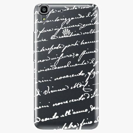 iSaprio Plastový kryt - Handwriting 01 - white - Huawei Ascend Y6