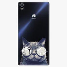 iSaprio Plastový kryt - Crazy Cat 01 - Huawei Ascend P7