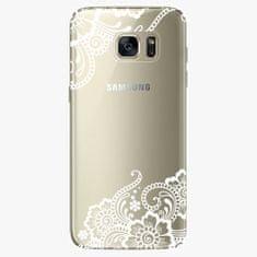 iSaprio Silikonové pouzdro - White Lace 02 - Samsung Galaxy S7 Edge