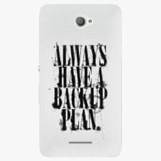 iSaprio Plastový kryt - Backup Plan - Sony Xperia E4