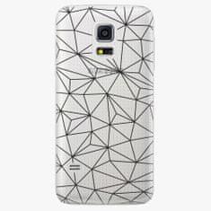 iSaprio Plastový kryt - Abstract Triangles 03 - black - Samsung Galaxy S5 Mini