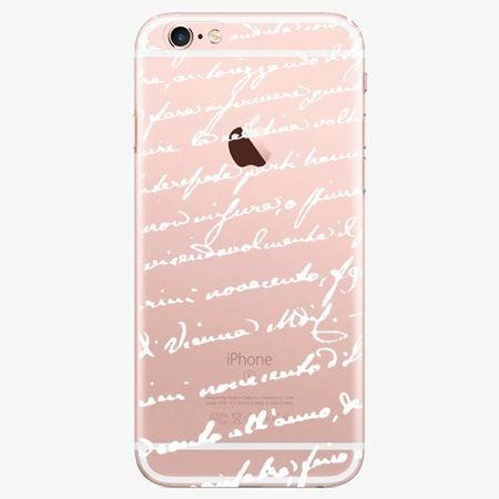 iSaprio Plastový kryt - Handwriting 01 - white - iPhone 7 Plus