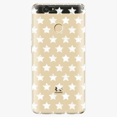 iSaprio Plastový kryt - Stars Pattern - white - Huawei Nova