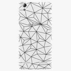 iSaprio Plastový kryt - Abstract Triangles 03 - black - Lenovo A6000 / K3