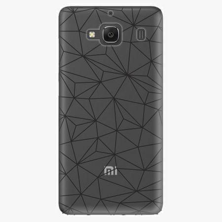 iSaprio Plastový kryt - Abstract Triangles 03 - black - Xiaomi Redmi 2