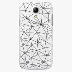 iSaprio Plastový kryt - Abstract Triangles 03 - black - Samsung Galaxy S4 Mini