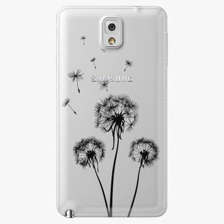 iSaprio Plastový kryt - Three Dandelions - black - Samsung Galaxy Note 3