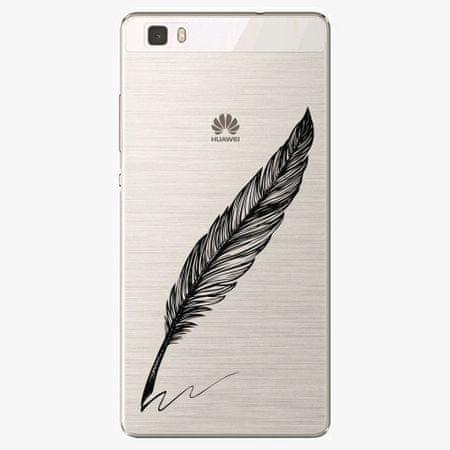 iSaprio Silikonové pouzdro - Writing By Feather - black - Huawei Ascend P8 Lite