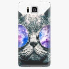 iSaprio Plastový kryt - Galaxy Cat - Samsung Galaxy Alpha
