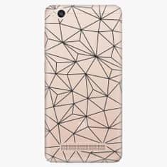 iSaprio Plastový kryt - Abstract Triangles 03 - black - Xiaomi Redmi 4A