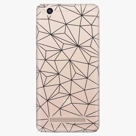 iSaprio Silikonové pouzdro - Abstract Triangles 03 - black - Xiaomi Redmi 4A