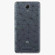 iSaprio Plastový kryt - Abstract Triangles 03 - black - Xiaomi Redmi Note 2